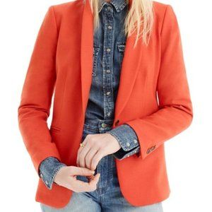 J.Crew Parke Blazer in Bright Persimmon
